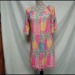 NWT Simply Southern 2XL Pineapple tassel dress